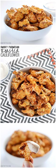 Smoky Parmesan Roasted Cauliflower - BudgetBytes.com