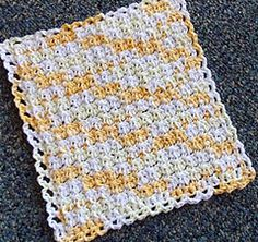Crochet Dishcloth by Lauri Bolland - Ravelry free download.