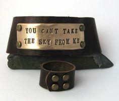 leather cuff bracelet -