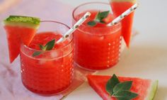 Domácí melounová limonáda