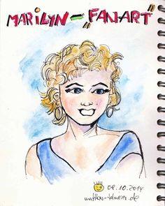 """Eigentlich sind so ziemlich alle meine #MarilynMonroe-Zeichnungen irgendwie """"Fan-Art"""". Aber hier habe ich versucht, etwas Manga-Style hineinzubringen...    ALL my """"Marilyn-Drawings"""" are kind of """"Fan-Art"""" actually...:) but here I've tried some #Manga-Style"""" :)  read more: http://matthias-talmeier.blogspot.de/2014/10/marilyn-fan-art.html#links"""