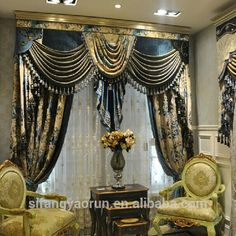 Layered Curtains, Curtains And Draperies, Luxury Curtains, Home Curtains, Valances, Easy Home Decor, Home Decor Kitchen, Latest Curtain Designs, Living Room Decor Curtains