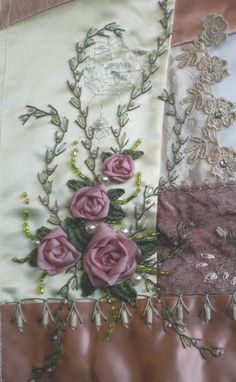 ruban de soie, et quelques perles