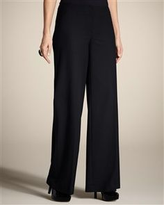 As far as I'm concerned, a woman can never have too many black pants. These are from Chico's, and I like the wide legs.