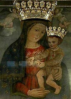 """Quadro della """"Madonna delle Grazie""""  è un'opera di fr Cesare Turco e Decio Tramontano... Frati Minori Cappuccini di   San Giovanni Rotondi da anni la custodiscono nella Chiesetta Antica del convento."""