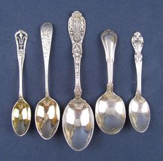 TWO Alvin Gorham Sterling Silver William Penn 8 1//2 Inches Serving Spoons