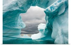 Iceberg floating off the Western Antarctic Peninsula in the Southern Ocean Antarctica