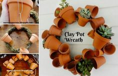 You'll love to learn how to make a succulent clay pot sphere and it will look amazing in a favorite spot in your garden. Watch the video now and see how to make a Clay Pot Wreath too. You are going to love these easy projects.