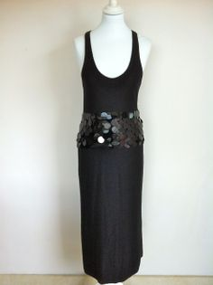 Sonia Rykiel Long Black Wool Dress With Sequins via The Queen Bee. Click on the image to see more!