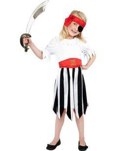 Costume fille pirate - 4-6 ans - Pirate Fille - Filles - Enfant - Accessoires de fête, Déguisements, Costumes,