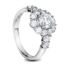 White gold classic diamond engagement ring with round diamonds Diamond Rings, Diamond Engagement Rings, Round Diamonds, Jewelry Design, White Gold, Wedding Rings, Jewels, Gallery, Classic