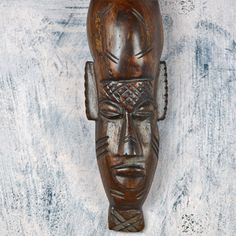 vintage wooden AFRICAN carving...  wall hanging...  by CoolVintage
