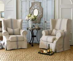 Slipcovered Tristan Chair   Slipcover Chair, Wingback Chair, Modern Wingback  Chair | Soft Surroundings