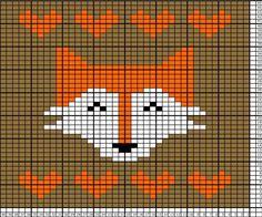 New knitting charts fox cross stitch ideas Dishcloth Knitting Patterns, Knitting Charts, Knitting Stitches, Knitting Socks, Baby Knitting, Crochet Patterns, Simple Knitting, Vintage Knitting, Cross Stitching