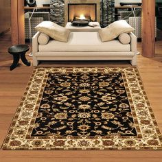 Nobel King Black Rug This decorative collection consists of both Persian Traditional and European - Carpets Mag Classic Living Room, Classic Rugs, Black Rug, Traditional Rugs, Displaying Collections, Rugs On Carpet, Carpets, Modern Rugs, Rugs In Living Room