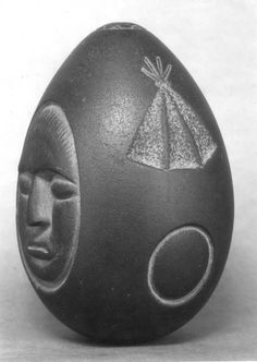 """Mystery Stone"" of Lake Winnipesaukee, New Hampshire, found in 1872, from the New Hampshire Historical Society's collection. The origins and purpose of the artifact are still unknown -- there are no other known objects bearing similar markings or design. The stone is currently on display at the Museum of New Hampshire History."