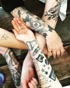 cool arm tattoos on cool ladies