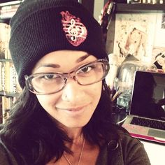 """@skindiamond, this is your 3rd time appearing as my #wCw, this time sporting our @HeartsXHarmony brand, the #ClassicCollection beanie. There should be an award given to you for this milestone . Follow her and receive a 10% discount off our online shop by entering the promo code """"iloveskin"""" -
