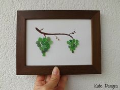 Sea glass grapes grapevine beach find pebble art by Kate Dengra, Spain