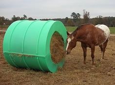 2 photo of 13 for covered round bale feeders for horses