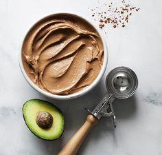 Chocolate Avocado Freeze - GF DF definitely Substitute Cacao Powder instead of hot choc mix! Frozen Meals, Frozen Desserts, Keto Desserts, Chocolate Ice Cream, Chocolate Flavors, Chocolate Avacado, Freeze Avocado, Avocado Recipes, Tapas
