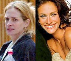 Julia Roberts. Oh the magic of makeup and stuff. Makes me feel better bout myself haha