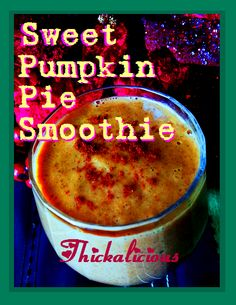 Sweet Pumpkin Pie Smoothie -- this is a sweet and tasty Thickalicious pumpkin-flavoured smoothie that will definitely take you from breaky to lunch with no cravings! Smoothie Recipes, Smoothies, Pumpkin Pie Smoothie, Baking Ingredients, Juices, Coffee Cans, Cookie Dough, Cravings, Veggies
