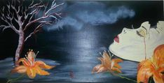 Vergänglichkeit - Acryl auf Leinwand Surrealism, Painting, Fantasy World, Canvas, Pictures, Painting Art, Paintings, Painted Canvas, Drawings