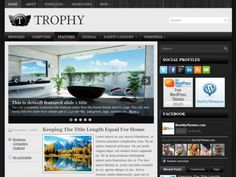 Trophy comes with widgets, extensive theme options, an automatically updating slideshow and free support. The future-proof design will mean your website will always look modern and up to date.