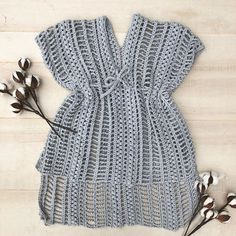 Free Crochet Pattern for the Easy, Breezy Swim Cover — Megmade with Love Free Crochet Swim Cover by Megmade with Love Crochet Beach Dress, Crochet Bathing Suits, Crochet Summer Tops, Crochet Tops, Crochet Cover Up, Easy Crochet, All Free Crochet, Crochet Shawl, Knit Crochet