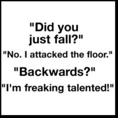 Next time I fall I am saying this