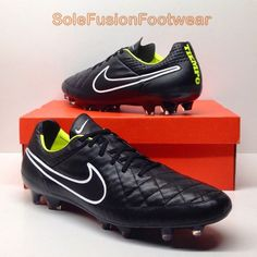 16844bd7b4c0 Nike mens Tiempo Legend V Football Boots Black sz 13 FG Soccer Blade Cleats  48.5 887231218585