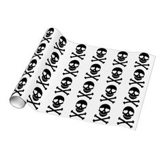 Shop Skulls and Crossbones with Hearts Wrapping Paper created by TheGraphicsCreative. Skull And Crossbones, Custom Wrapping Paper, Skulls, Create Your Own, Hearts, Gift Wrapping, Red, Prints, Color