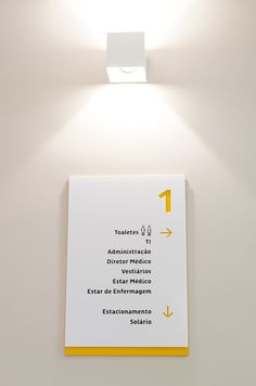Sinalização Placi on Branding Served