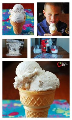 Sweet Summer Treat: Coconut-Vanilla Ice Cream Recipe - Kids love this idea! They can make their own ice cream in 5 minutes, start to finish! http://www.superhealthykids.com/sweet-summer-treat-coconut-vanilla-ice-cream/