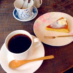 #tokushima #japon - 13件のもぐもぐ - なると金時のケーキ 飲み物セット(海ブレンド 深煎) by maixx ใหม่
