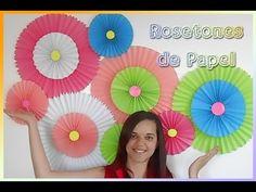 Flores Gigantes de Papel facil y economicas - YouTube