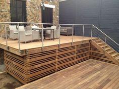 Terrasse bois en hauteur sur pilotis