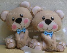Prendedores de ursinhos, confeccionado em feltro.  Personalizo como o cliente desejar.  *valor refere-se ao par.