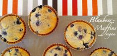 Blaubeer-Muffins fructosearm, laktosefrei