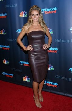 Heidi Klum Leather Dress - Heidi Klum Leather Dress Looks - StyleBistro