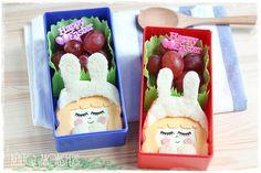Cute bunny girl sandwich. The girls are cut out using #cutezcute