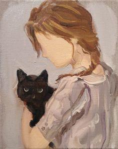 Gideon RUBIN (1973)Black Cat (2012, huile sur toile)