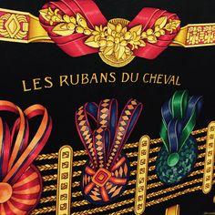 "Hermès ""Les Rubans du Cheval"" Silk Scarf at Secondi Consignment"