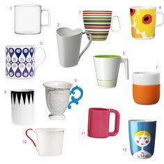 Roundup: 12 Modern Mugs - LOVE THE 9th!