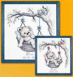 Tableau de naissance panier ours