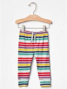 Multi-stripe banded pants | Gap