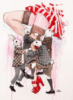 PLAYBOYS by lora-zombie on DeviantArt // Les lapins n'aiment-ils pas Alice, qu'ils soient des playboys ou non?...