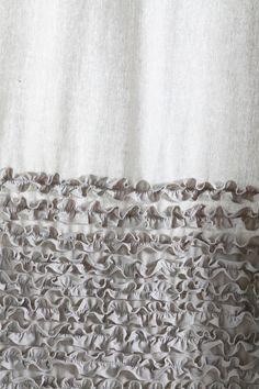 Detail Bloomer Ruffle Shower Curtain