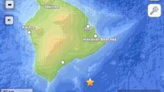 HAwaii earthquake 5.3 magnitude 6/4/2013